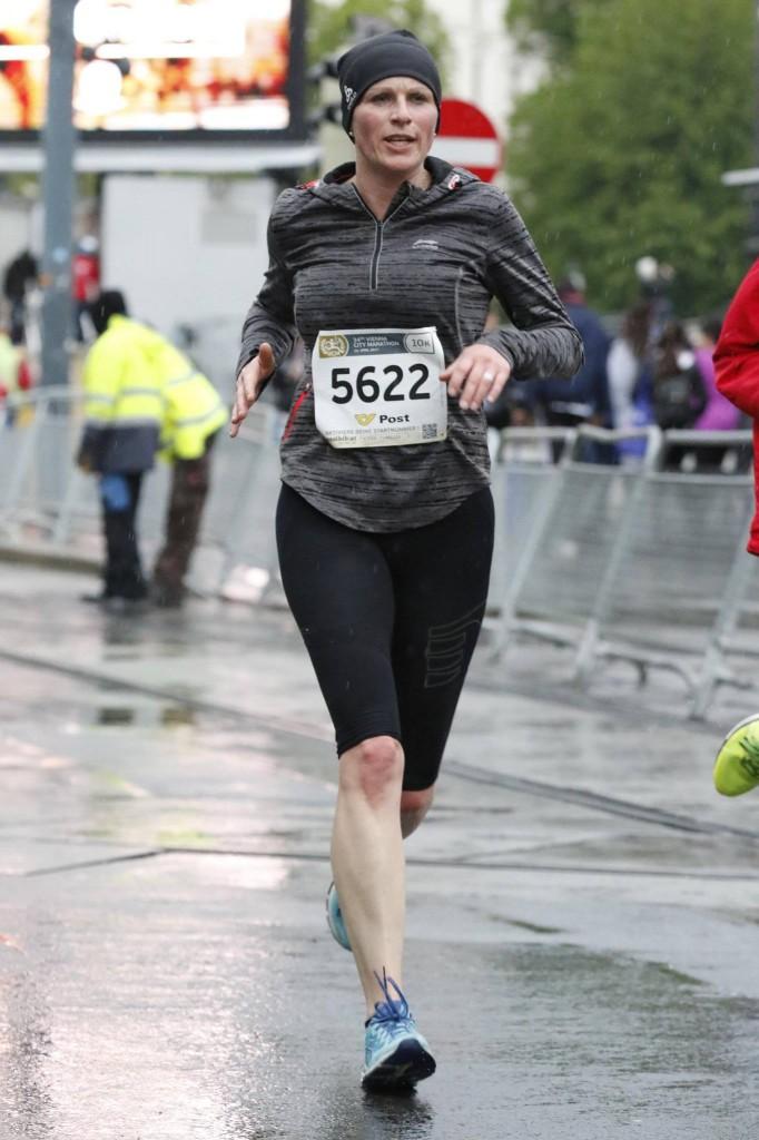 Sepp Schwarzer läuft im Rahmen des Vienna City Marathons zum 10-km ...