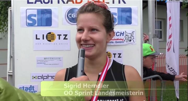 Sigrid Herndler, OÖ Landesmeisterin im Triathlon